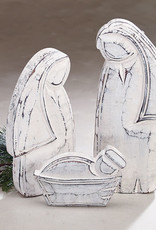Nativity Holy Family Wood (whitewashed)