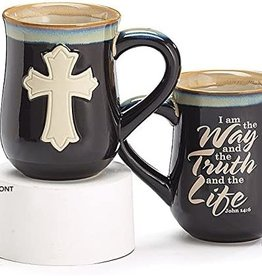 Mug- Cross black