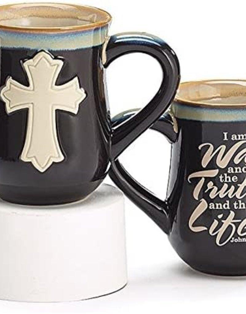 Mug- Cross black