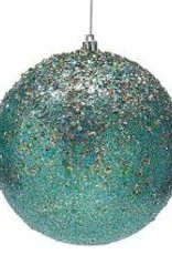 ORNAMENT- PEACOCK BLUE WITH GOLD GLITTER - SMA