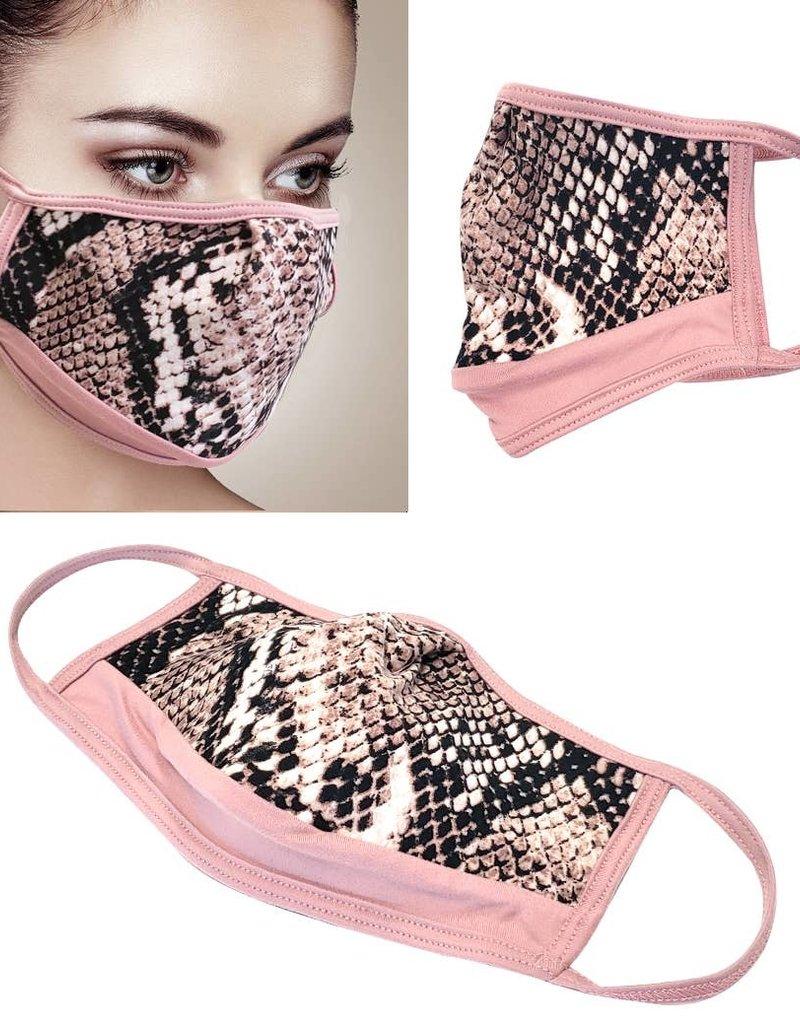 Face Mask- Python/Pink