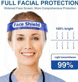 Face Shield, Individually Poly Bagged