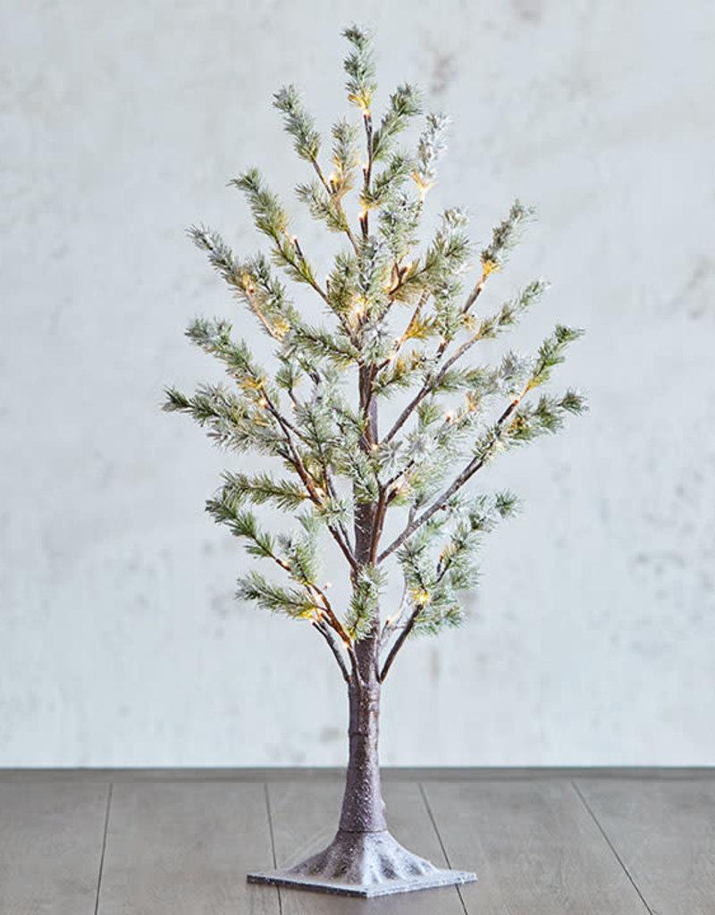 "3"" Snowy Pine LIghted Tree"