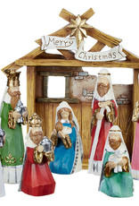 "12"" Nativity with Creche - 8 pc set"