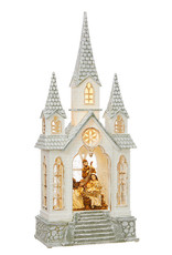 "16.25"" Nativity in Lighted Water Church"