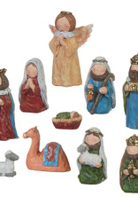 "3.75"" Nativity Set - 10 pcs"
