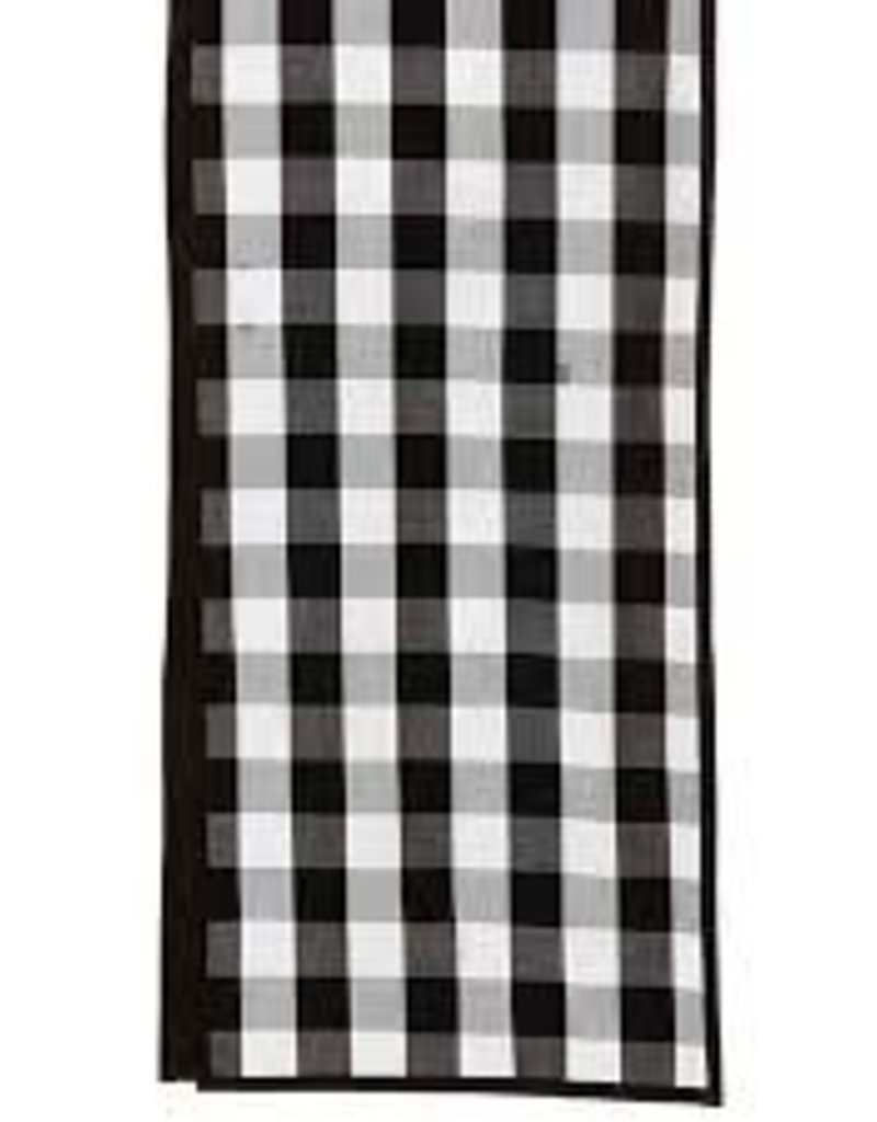 "72"" B/W Buffalo Check Table Runner"