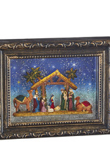"9.5"" Nativity LIghted Water Picture Frame"
