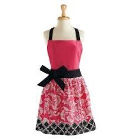 APRON PINK/BLACK RIVIERA FLORAL