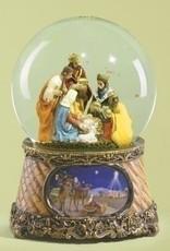 "6"" 3 Kings Nativity Musical Globe"