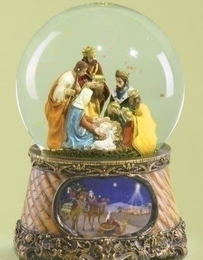 "6"" 3 Kings Nativity Musical Globe"