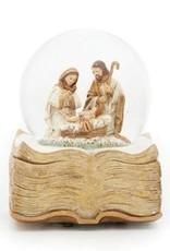 "6"" Book Base Holy Family Musical Nativity"