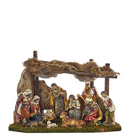 Nativity Set with 11 Figures and Stable