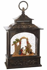 Lighted Nativity Water Lantern