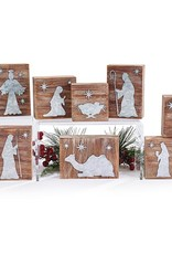 Nativity 10 pc Set -Natural Wood Block