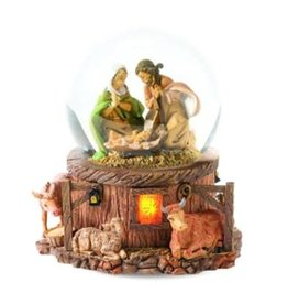 "5.7"" Holy Family Silent Night Glitterdome"