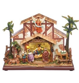 "9.5"" Musical LED Rotating Nativity"