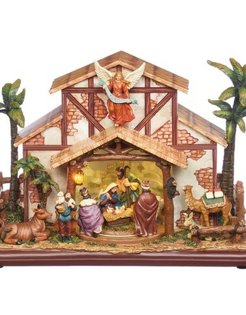 "9.5"" Musical LED Rotating Nativity"