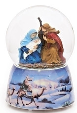 """5"""" Musical Holy Family Glitterdome"""