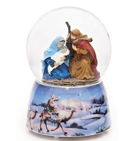 "5"" Musical Holy Family Glitterdome"