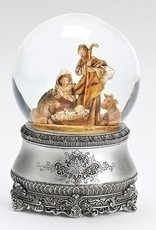 "6"" Musical Nativity w/Silver Base"