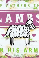 WALL ART GATHER THE LAMBS-PINK