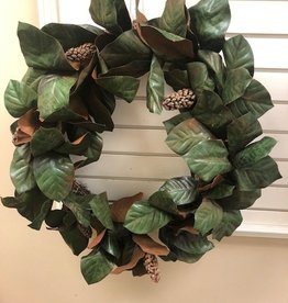 "32"" southern magnolia wreath"