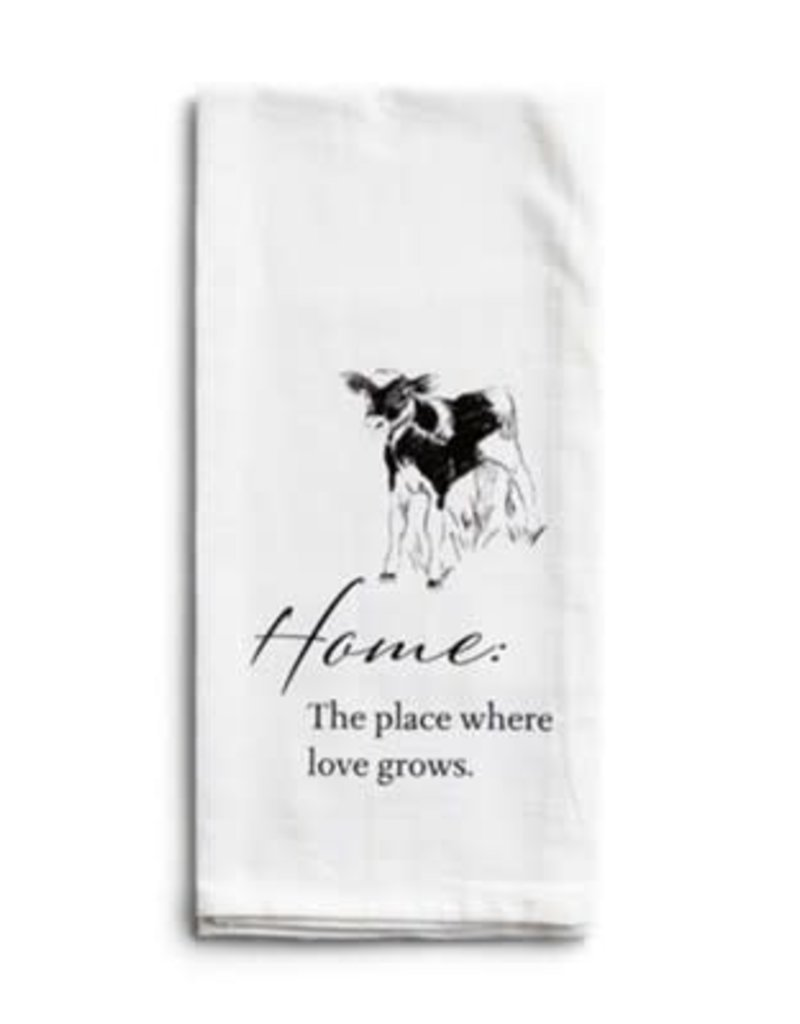 Home Calf Tea Towel
