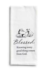 Blessed Puppies Tea Towel
