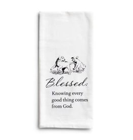 Blessed Puppies Tea Towel