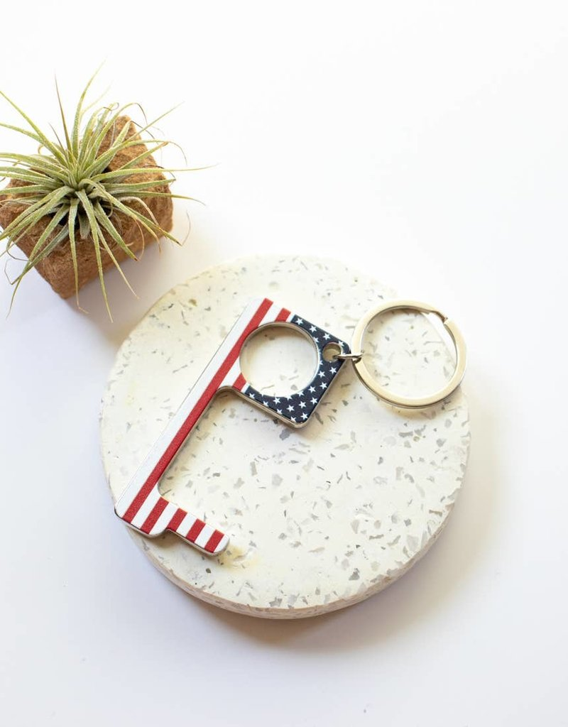 Patriotic No Touch Pusher/Opener