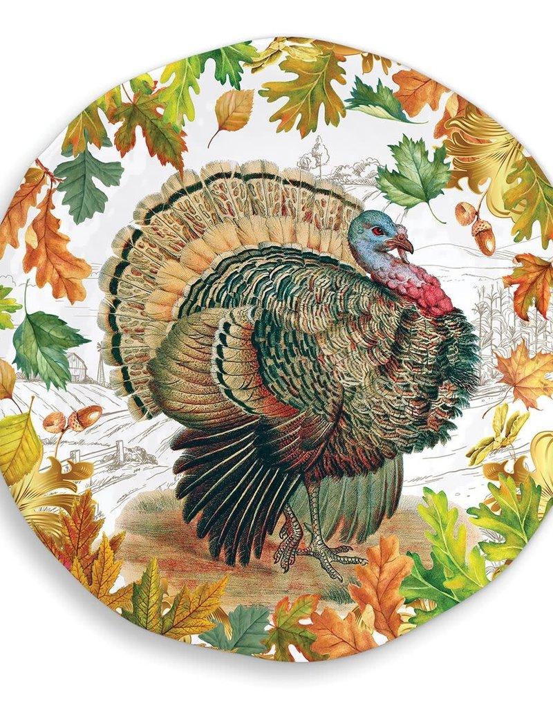 Fall Harvest Melamine Serveware Large Round Platter