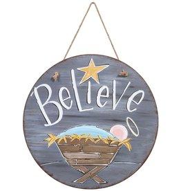 Believe Door & Wall Hanging Sign