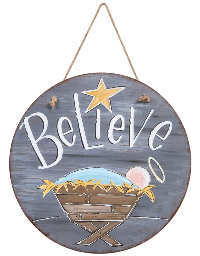 Believe Door & Wall Hanging Sign