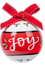 Joy Ceramic Ball Ornament