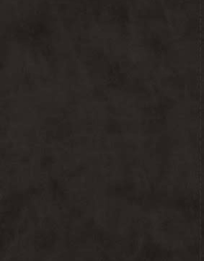 ESV Large-Print Study Bible--soft leather-look, black