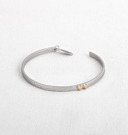 BRACELET SILVER HONOR BAND DOUBLE HEART