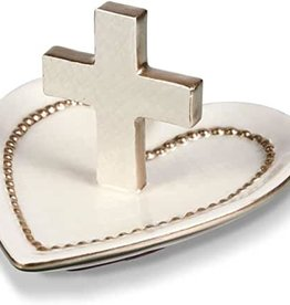 Heart & Cross Ring Dish