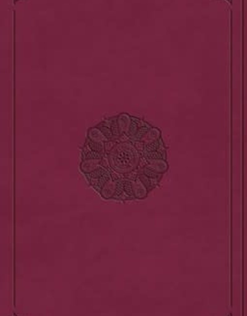 Premium Gift Bible- raspberry w/emblem design