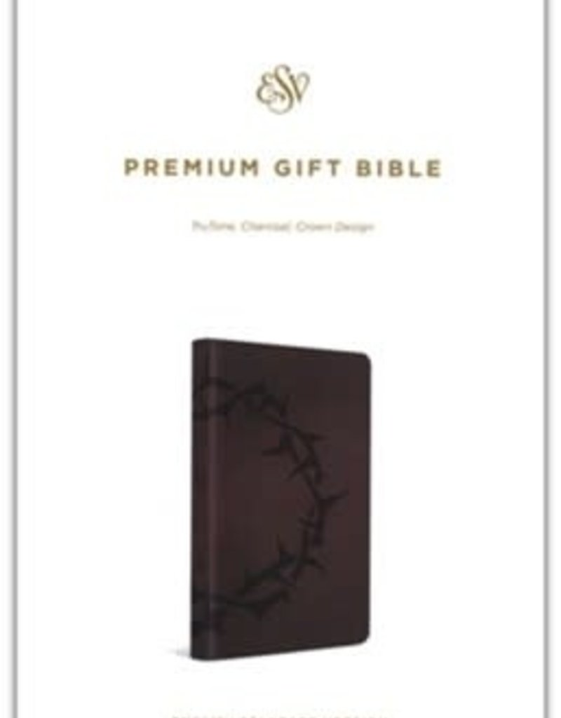 Premium Gift Bible-charcoal with crown design