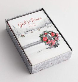 Cmas Boxed - God's Peace Wreath 89081