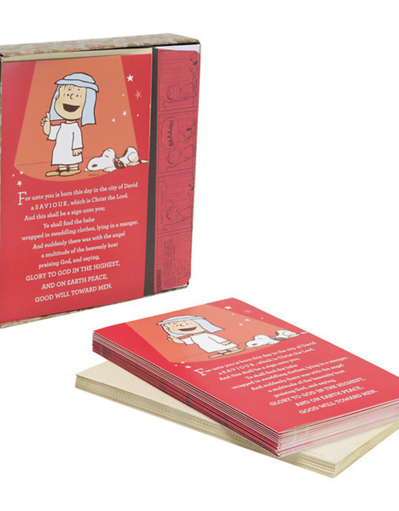 Cmas Boxed:Card. For Unto You Is Born-Peanuts  87238