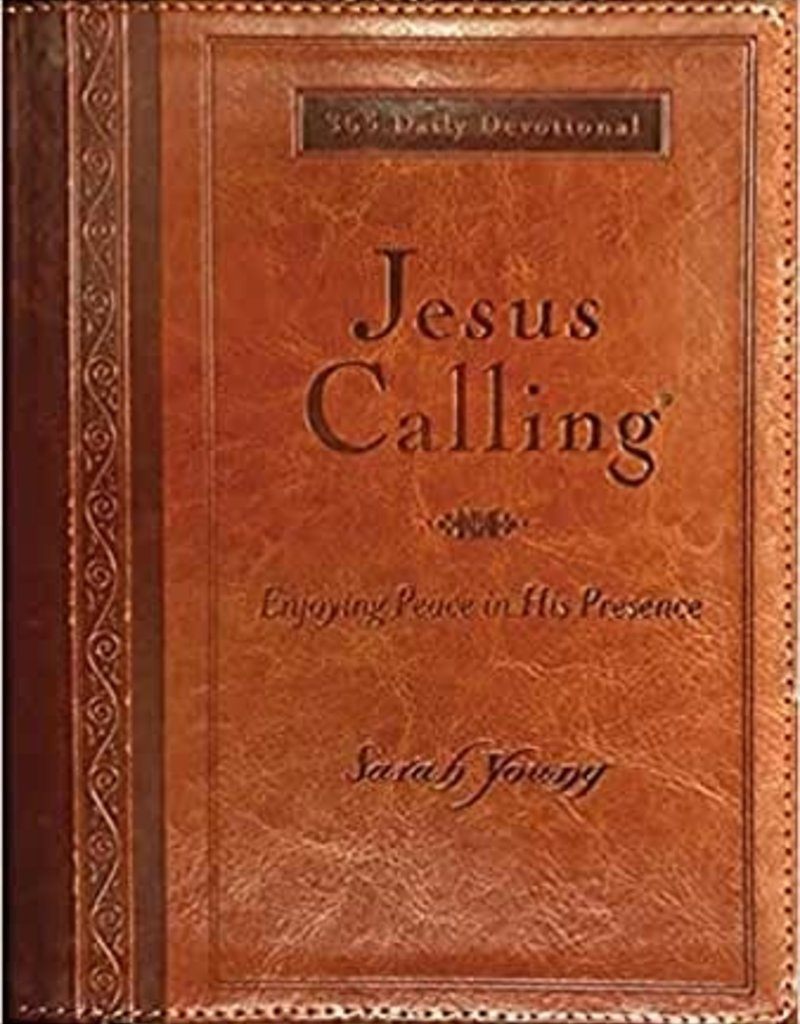 Jesus Calling (Deluxe) Large Print-Tan LeatherSoft