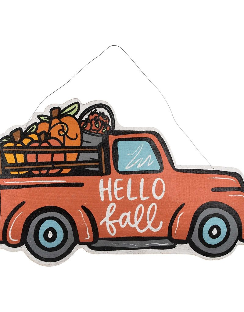 MERRY CHRISTMAS HELLO FALL TRUCK REVERSIBLE BURLEE