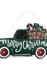 MERRY CHRISTMAS HELLO FALL TRUCK REVERSIBLE BURLEE