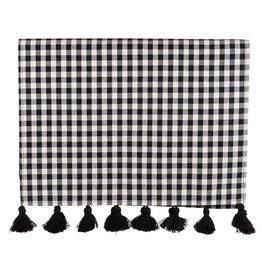 Black & White Check Table Runner
