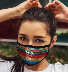 Face Mask- Serape Faith Over Fear