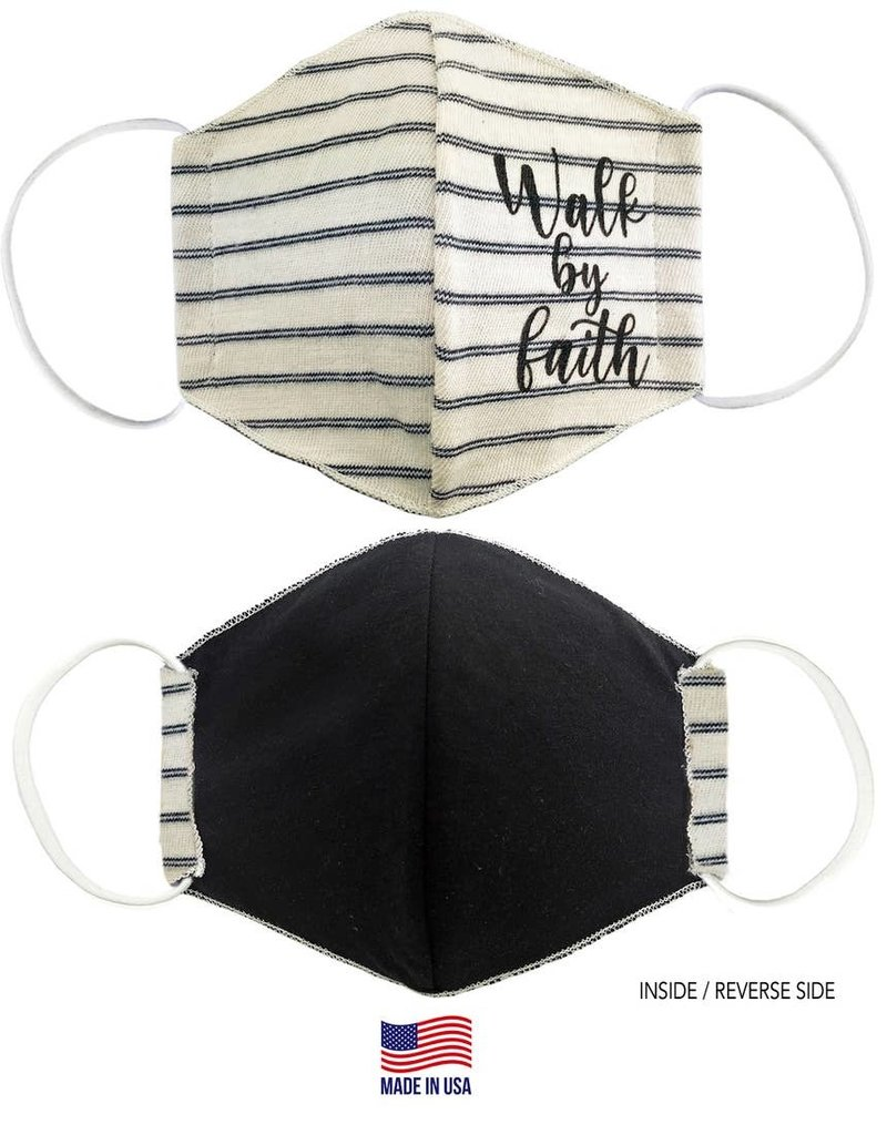 Face Mask-Walk By Faith Striped