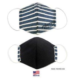 Face Mask- Amazing Grace Navy Striped