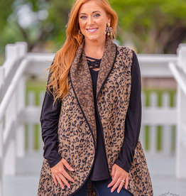 Paw-sitively Perfect Leopard Print Vest with Suede Accent